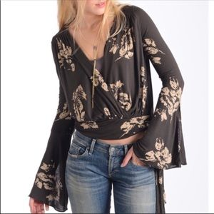 Free People Floral Fiona Bell Sleeve Boho Small